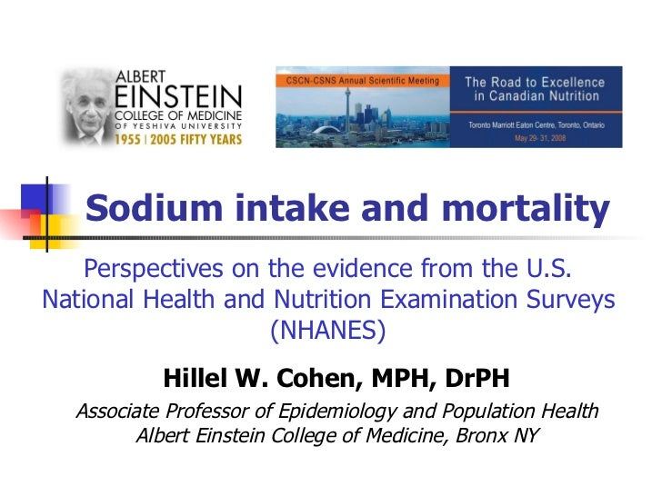 Sodium intake and mortality Perspectives on the evidence from the U.S. National Health and Nutrition Examination Surveys (...