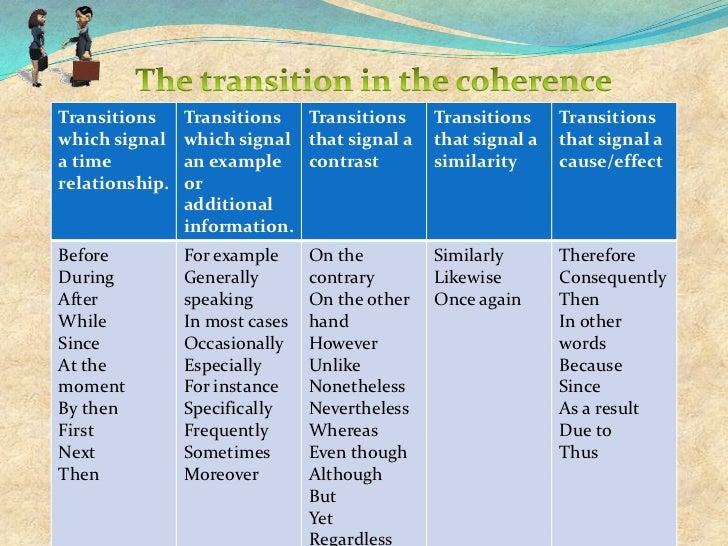 transition words comparison contrast essay