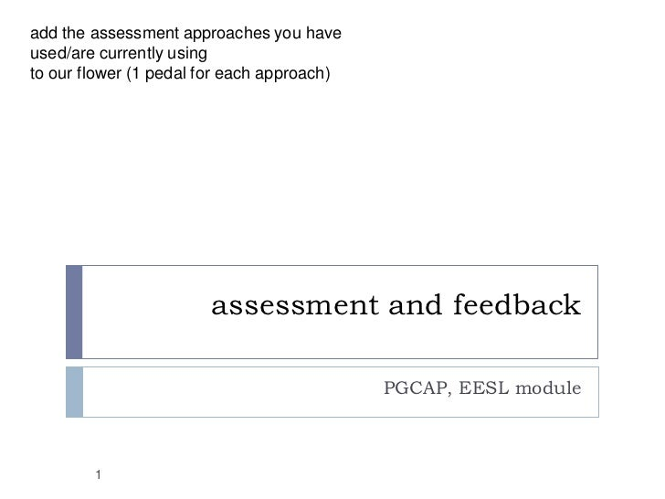 PGCAP cohort 2: week 6 - assessing and feeding back