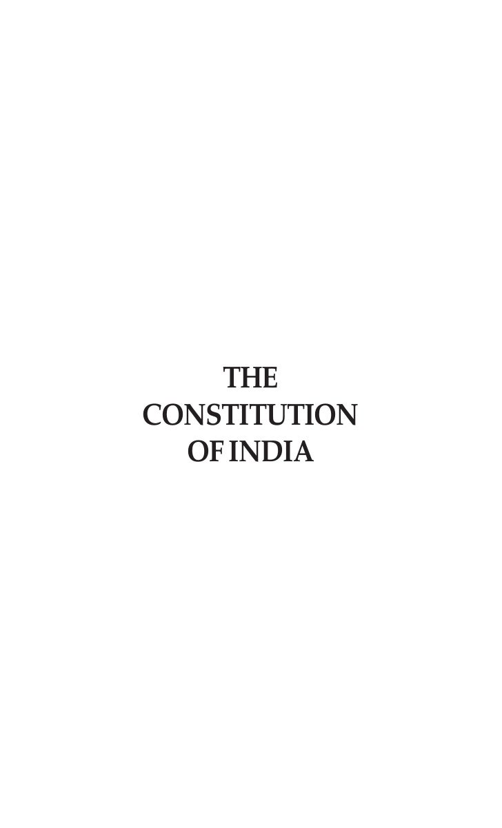 THECONSTITUTION  OF INDIA