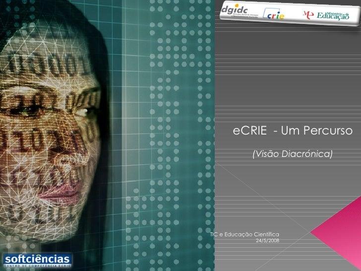 eCRIE  - Um Percurso (Visão Diacrónica) 24/5/2008 TIC e Educação Científica