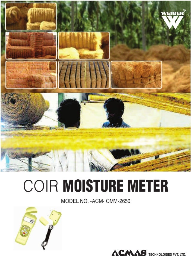 R  COIR MOISTURE METER MODEL NO. -ACM- CMM-2650