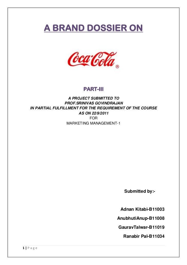 Coca Cola brand dossier