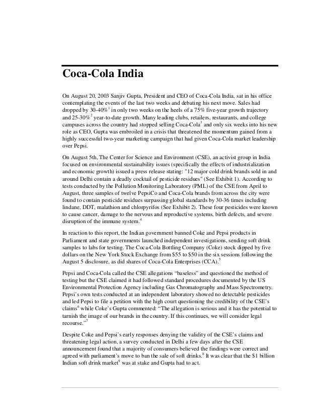 Coke india case