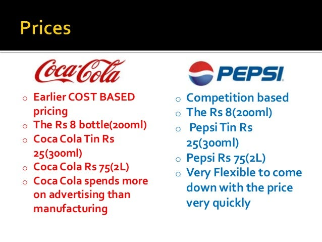 competitive analysis between pepsi and coca cola 29 may, 2012 coca-cola versus pepsi : competitive analysis brand war is common in traditional media where they compete for attention through advertisement.