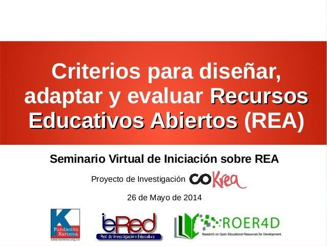 Criterios REA - Sesión 7