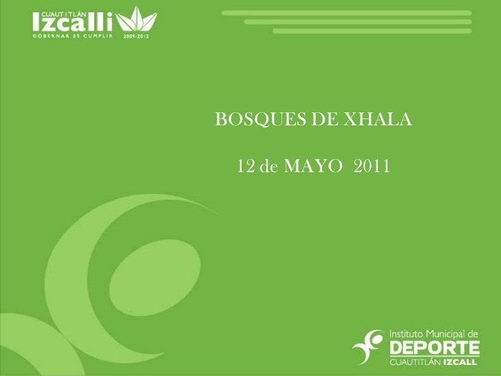 BOSQUES DE XHALA <br />12 de MAYO  2011<br />