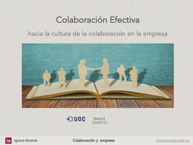 Hacia una cultura de colaboración en la empresa