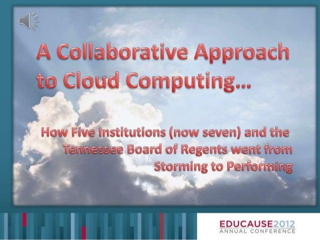 Colaborative Cloud Poster EDUCAUSE12