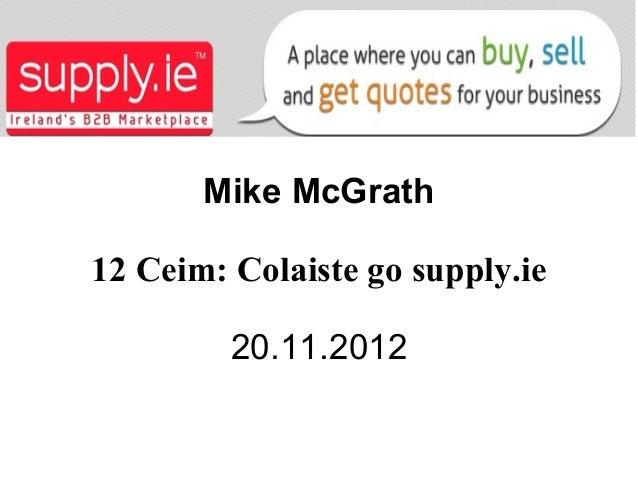Colaiste go supply.ie