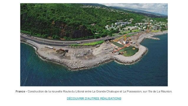 France - Construction de la nouvelle Route du Littoral entre La Grande Chaloupe et La Possession, sur l'île de La Réunion....