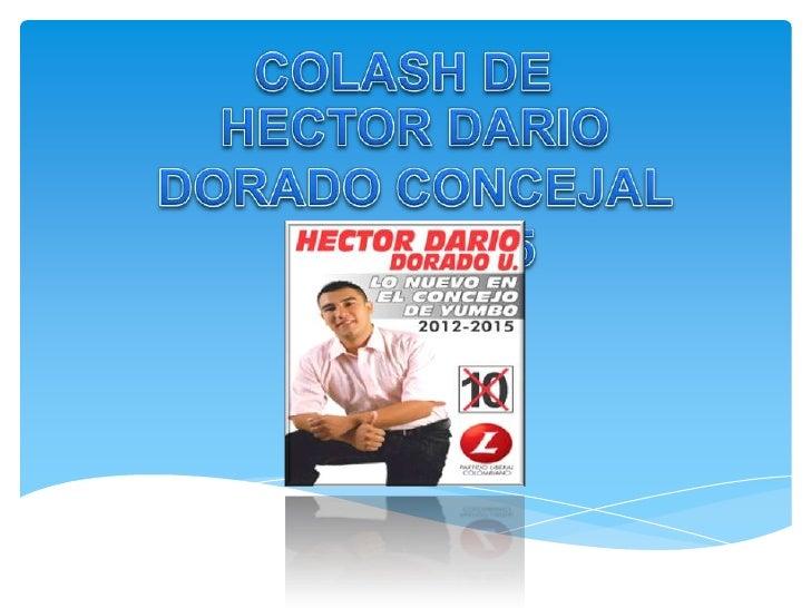 COLASH DE<br />HECTOR DARIO DORADO CONCEJAL 2012-2015<br />