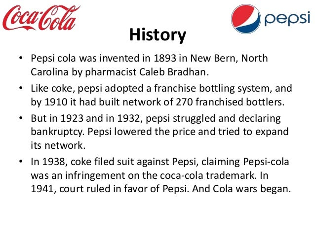 questions regarding case study pepsi cola wars Coke won the cola wars because great taste takes more than a a sweeter cola reformulated to best both pepsi and the classic formulation of coke in.
