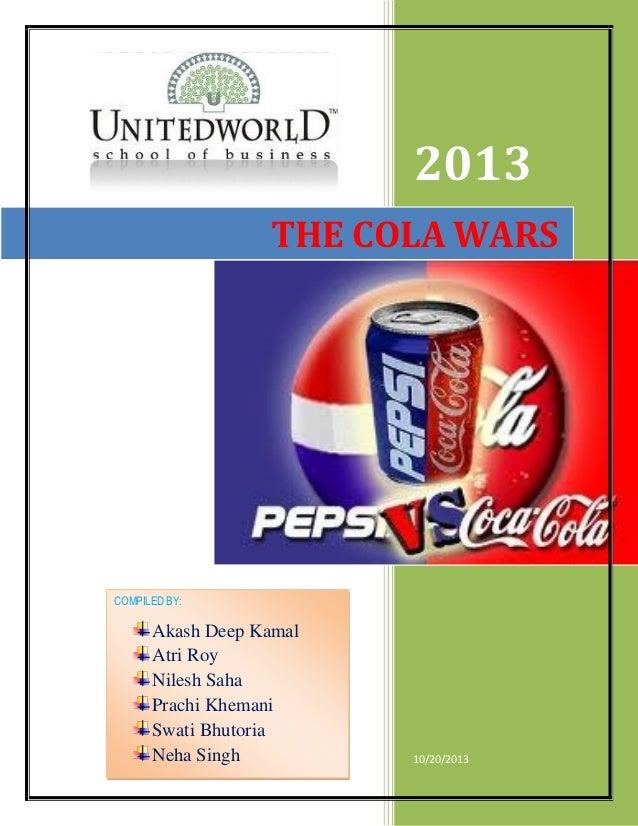 Cola wars between Cocacola and Pepsi