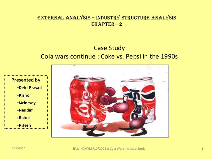 coke vs pepsi 2 essay Coke vs pepsi the company known as coca-cola today was started in september of 1919, but the first coke brand was served as early as 1886 since that time it has.