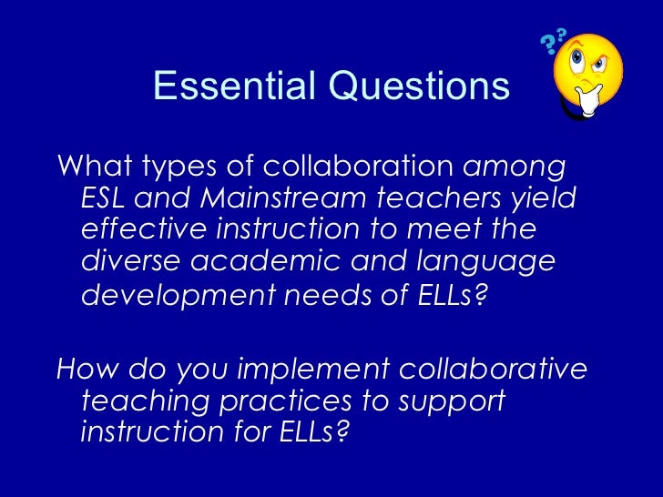 Collaborative Co Teaching : Collaboration co teaching for ells