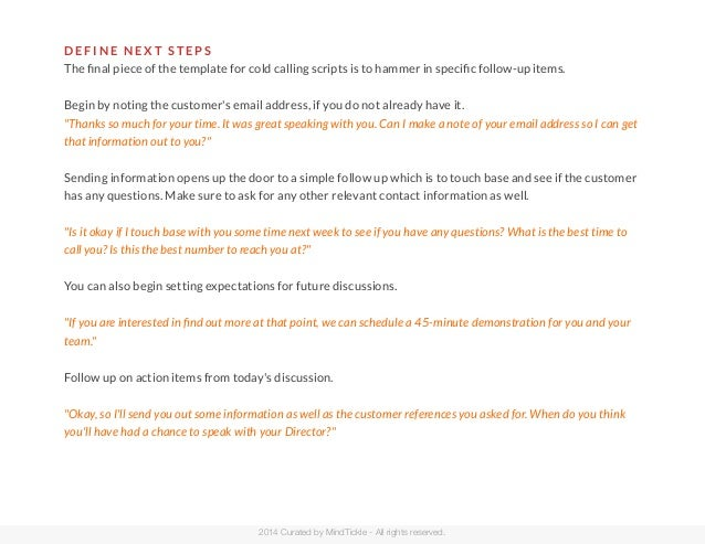 A simple no frills cold calling script that works for Cold call script template