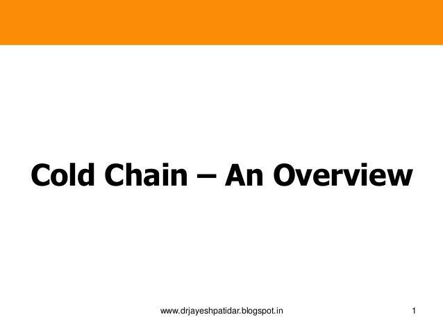 Cold chain   tot
