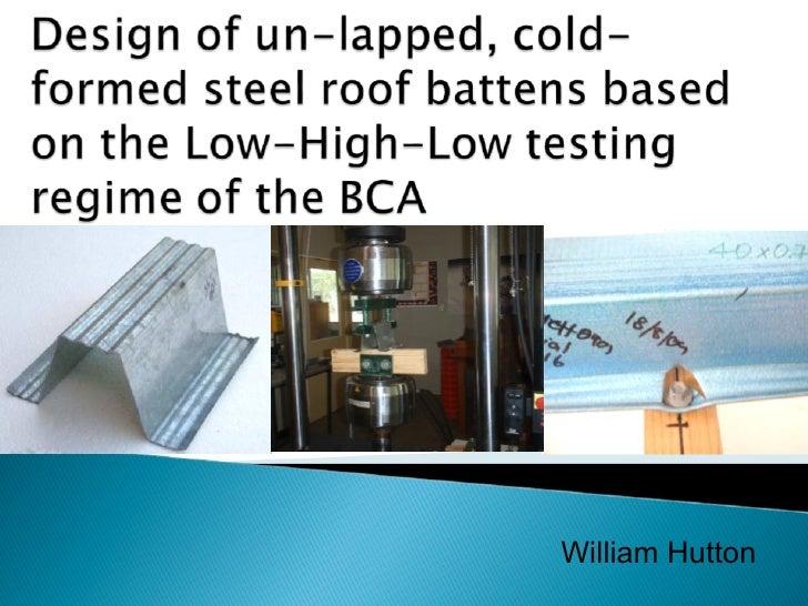 Cold Formed Steel Presentation