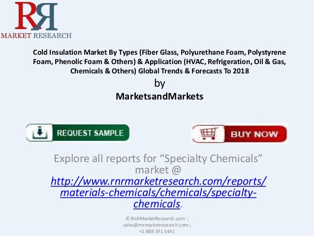 Cold Insulation Market By Types (Fiber Glass, Polyurethane Foam, Polystyrene Foam, Phenolic Foam & Others) & Application (...