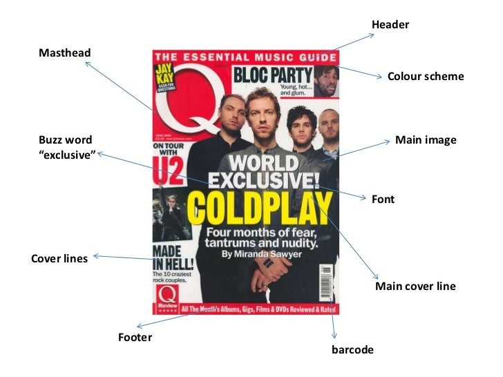 Coldplay analysis front cover