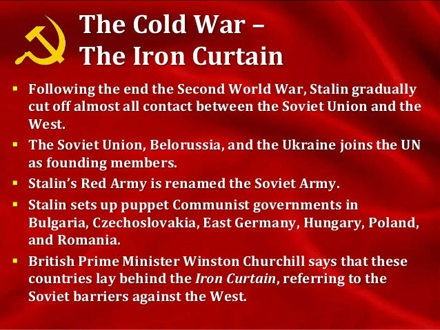 the process of stalinization and the cold war The spanish civil war and the routes of stalinization  although cold war historians have  among spanish republicans that constitutes a process of stalinization.