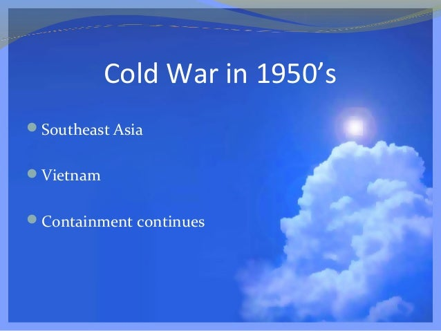 essay on containment during the cold war