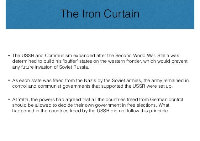 JUST NEED IDEAS - Why did communism spread beyond the U.S.S.R. and how did the U.S. respond?