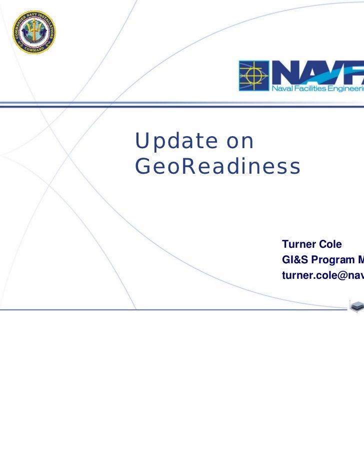 Update on GeoReadiness (Cole)