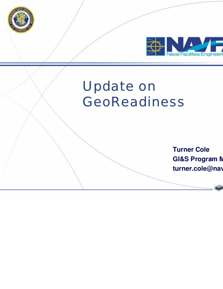 Update on GeoReadiness (Cole)
