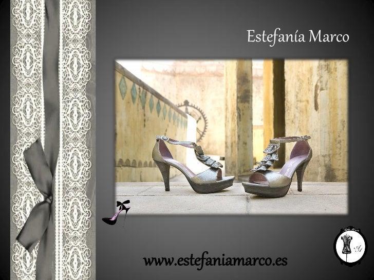 Colección Estefanía Marco. Zapatos