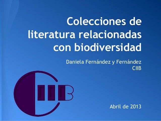 Colecciones de literatura biodiversidad