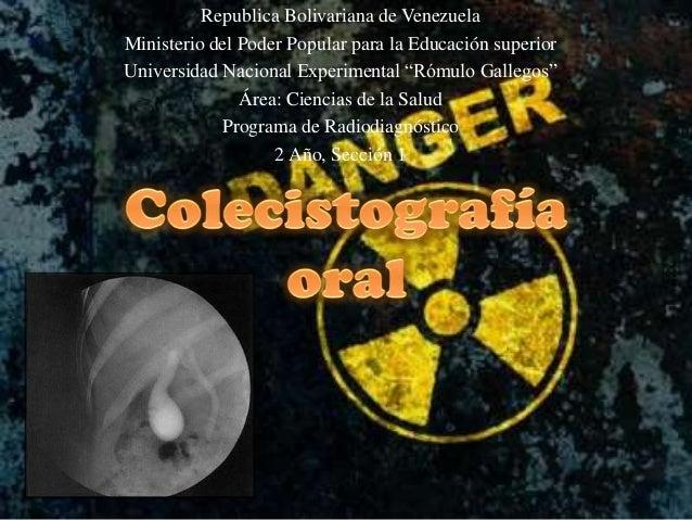 Republica Bolivariana de Venezuela Ministerio del Poder Popular para la Educación superior Universidad Nacional Experiment...
