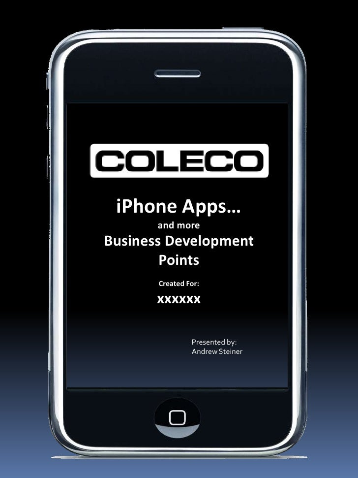 Coleco Apps Presentation