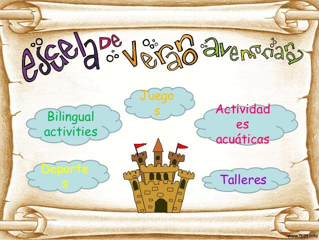 Deporte s Juego s Bilingual activities Talleres Actividad es acuáticas