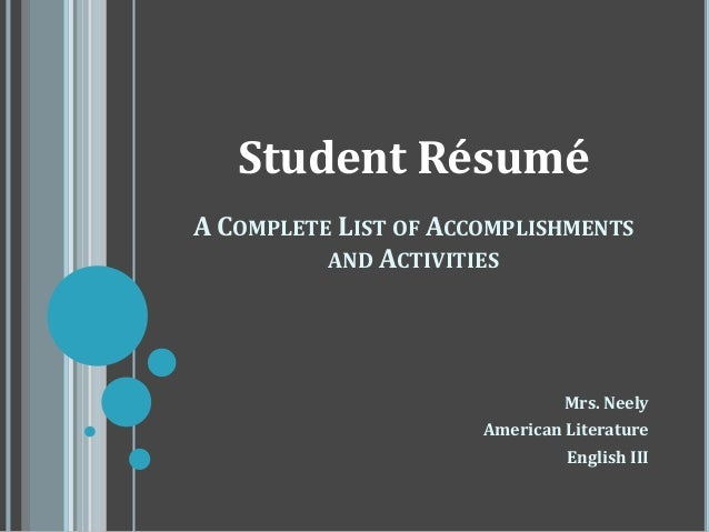 Custom resume writing ppt