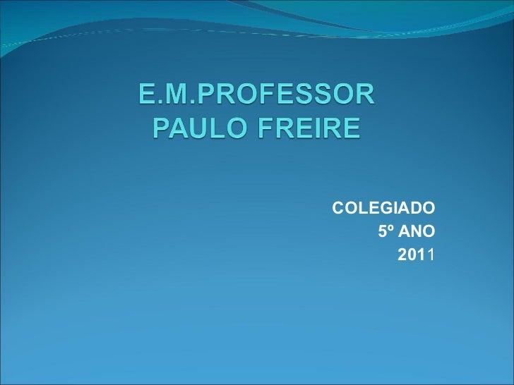 COLEGIADO 5º ANO 201 1