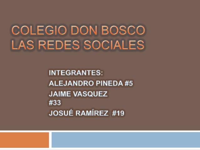 """""""LAS REDES SOCIALES""""."""