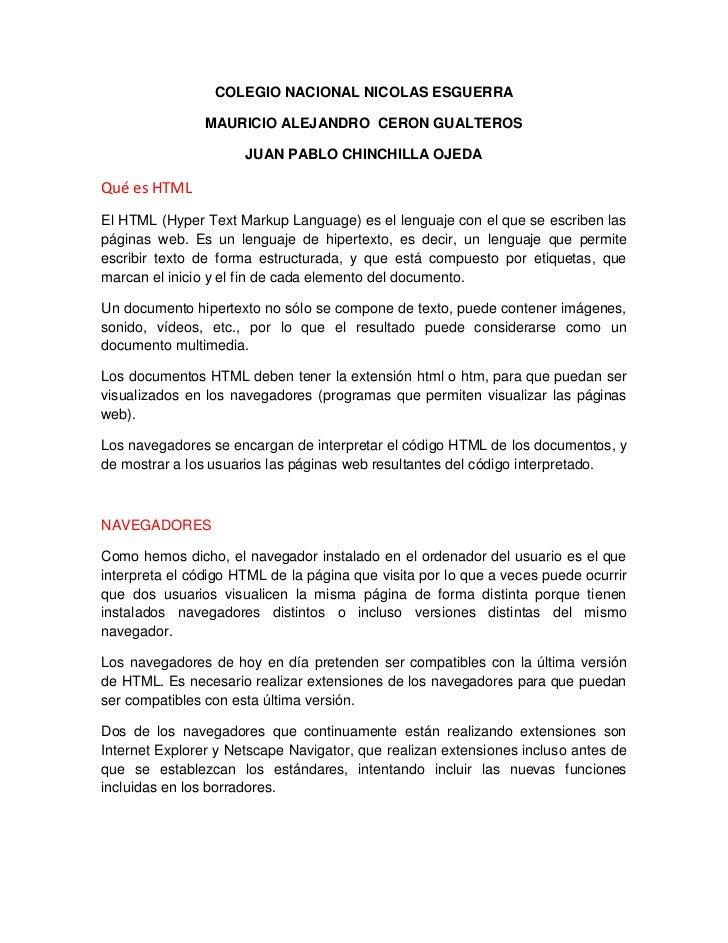 COLEGIO NACIONAL NICOLAS ESGUERRA                MAURICIO ALEJANDRO CERON GUALTEROS                      JUAN PABLO CHINCH...