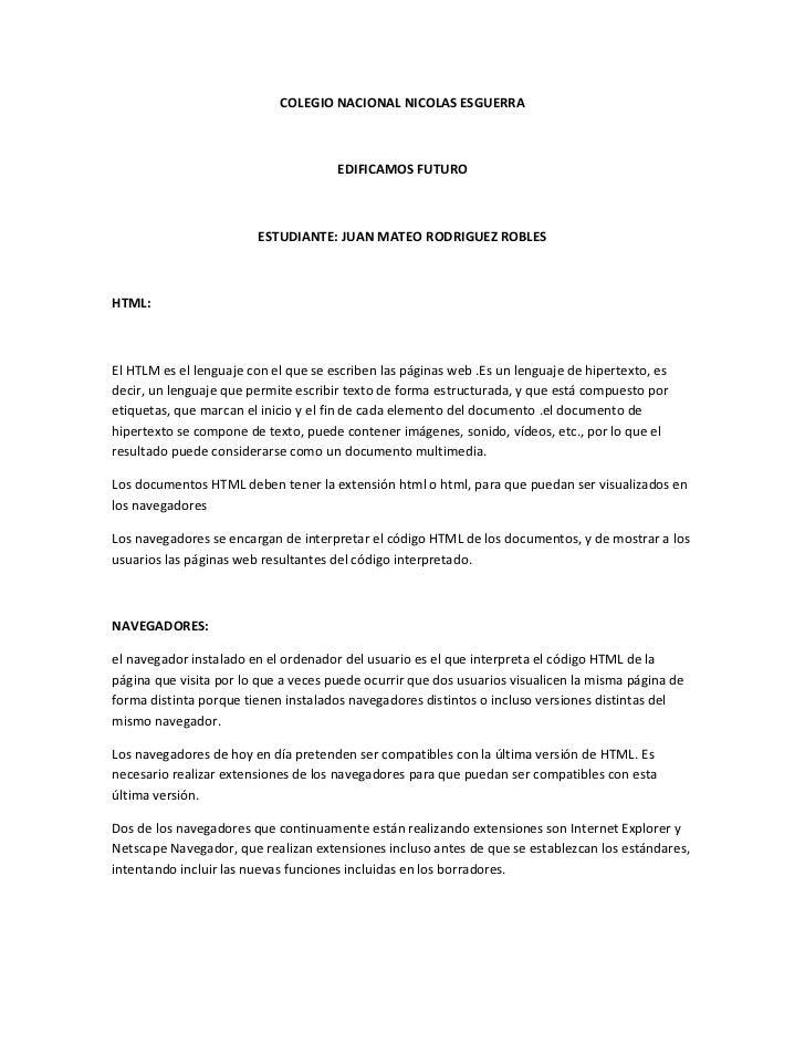 COLEGIO NACIONAL NICOLAS ESGUERRA                                      EDIFICAMOS FUTURO                        ESTUDIANTE...