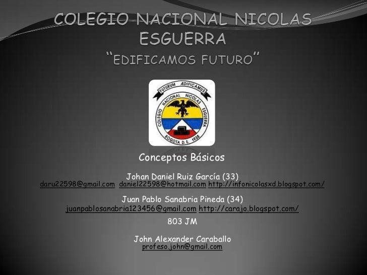 Colegio naional nicolas esguerra
