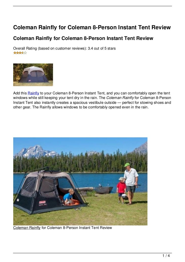 Coleman Rainfly for Coleman 8-Person Instant Tent ReviewColeman Rainfly for Coleman 8-Person Instant Tent ReviewOverall Ra...