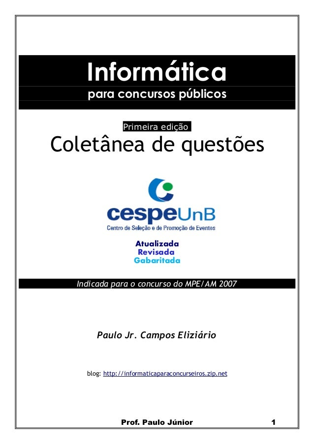 Colet nea+provas+de+inform-tica+-+cespe+(www.concurseirosdobrasil.net)