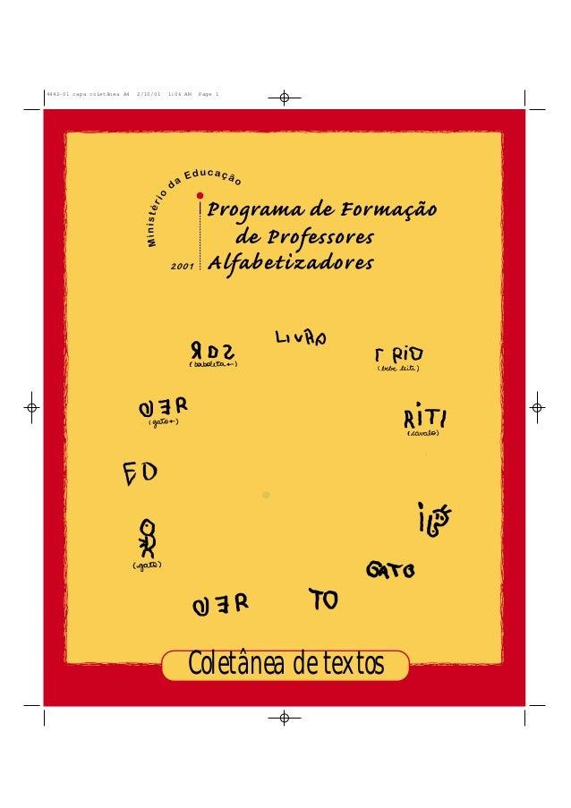 Coletânea de textos 4442-01 capa coletânea A4 2/10/01 1:06 AM Page 1