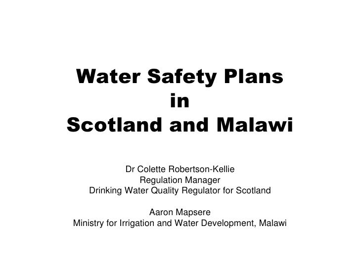 Colette Robertson-Kellie-Water Safety Plans