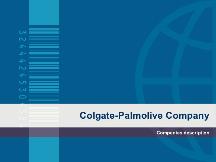 Colgate-Palmolive Company Companies description