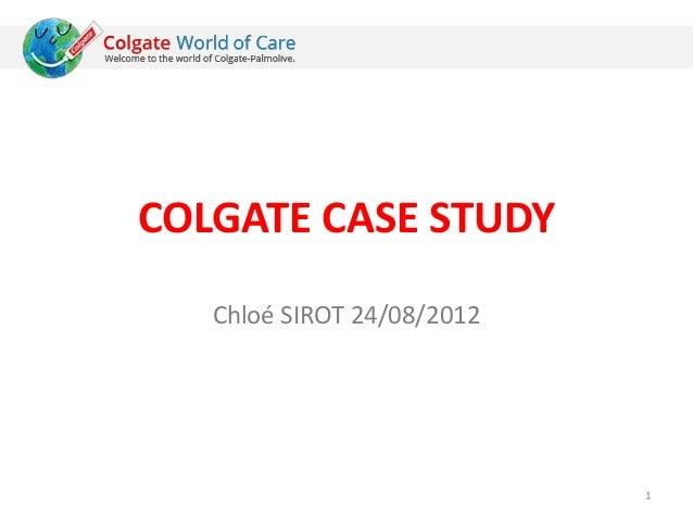 Colgate case study