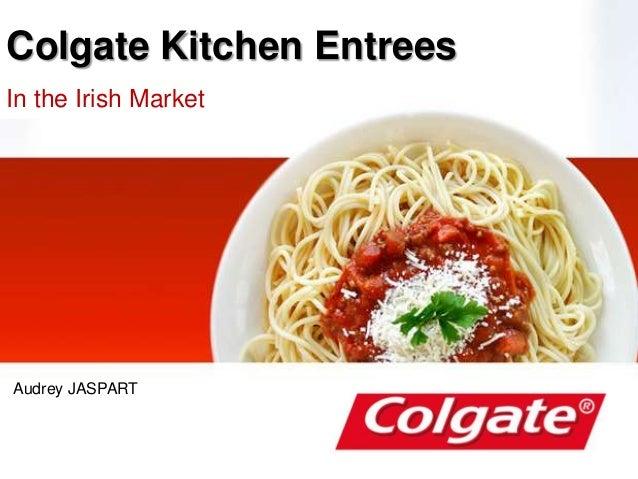Colgate Kitchen Entrees In the Irish Market Audrey JASPART