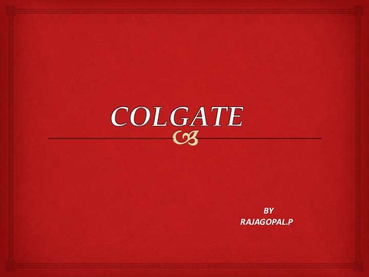 Colgate new