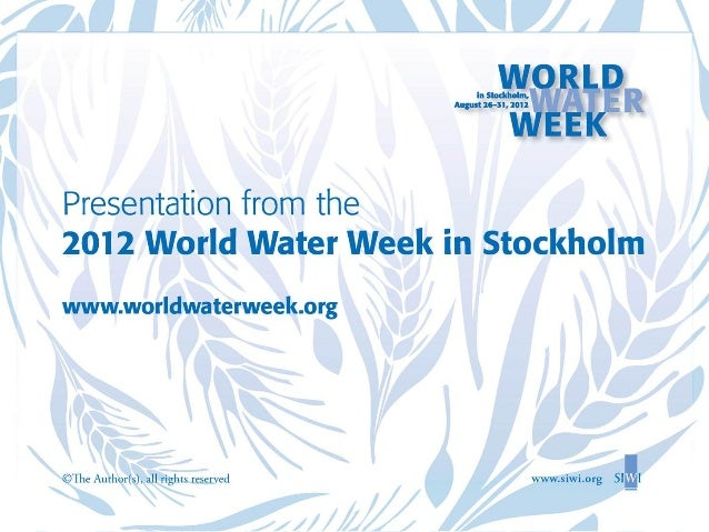 Can we expect food security, good nutrition and health in an increasingly water stressed world?